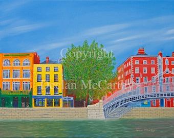 Ha'penny Bridge, Dublin 17x12(A3)