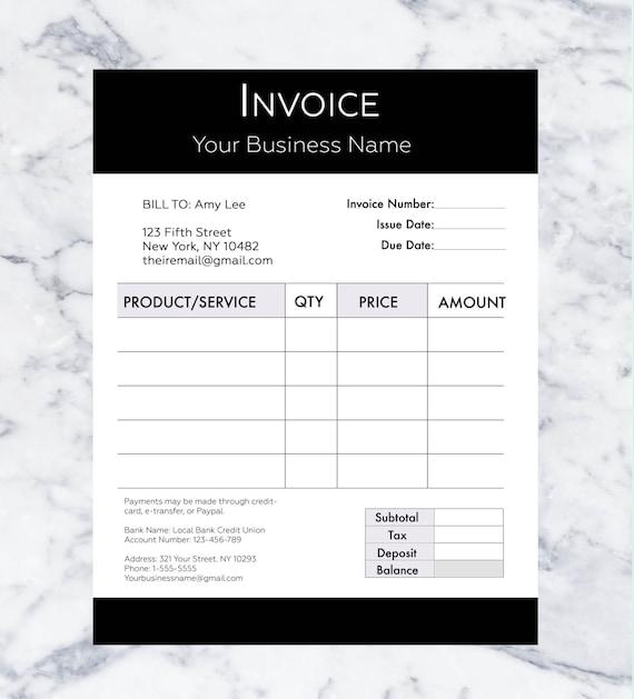 Plantilla de factura Plantilla de facturación Factura de
