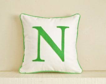 Monogram pillow, personalized pillow, initial pillow, pillow with letter, wedding gift, personalized pillow case
