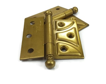 Vintage Brass Door Hinges - Pair