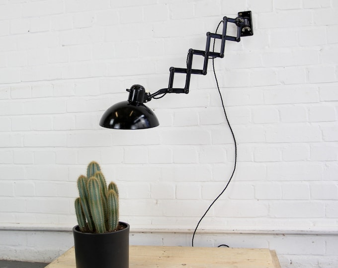 Model 6718 Industrial Scissor Lamp By Kaiser Idell Circa 1940s