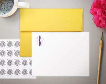 Personalized Stationery - Modern Monogram - Flat Thank You Notes - Monogrammed - Personalized Stationary