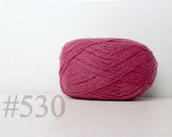 WOOL yarn 100%-Wool yarn for knitting, crochet - radiant orhid #530