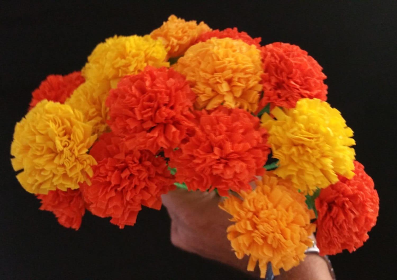 24 marigolds crepe paper flowers day of the dead dia de los zoom mightylinksfo