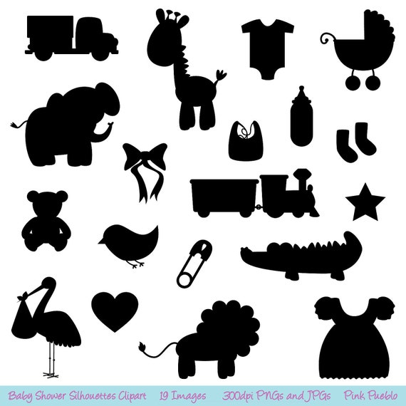 baby shower silhouettes clipart clip art commercial and rh etsy com baby jesus silhouette clip art baby chick silhouette clip art