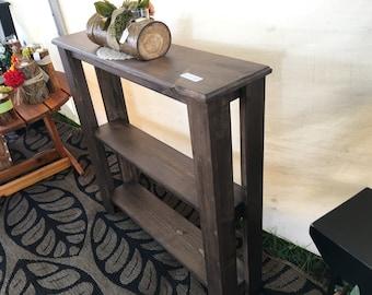 Rustic Brown Sofa Table