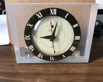 Awesome Techron Art Deco Lucite Electric Alarm Clock