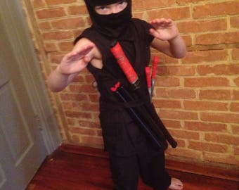 Ninja Outfit For Kids Size 2t to 12