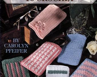 Eyeglass Cases to Crochet, Crochet Eyeglass Cases  Crochet Pattern, Leisure Arts 2762