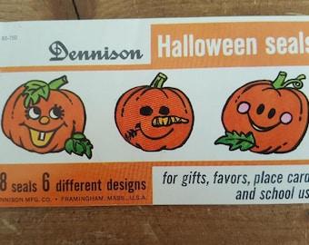 Dennison Halloween pumpkin seals