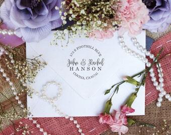 Self Inking Custom Return Address Stamp, Cute Stamp for Newly Weds, Valentines Day Stamp, Wedding Gift --10206-PI53-000