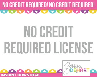 No Credit Required Commercial Use Clipart License Usage Sonya DeHart Design