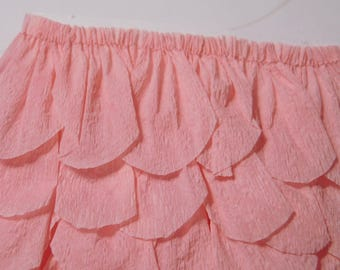 Blush Pink Crepe Petal/Scalloped Garland - 48 Inches Hand Stitched
