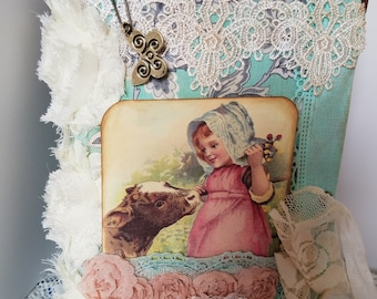 Vintage junk journal, junk journal, journal, country junk journal, country journal