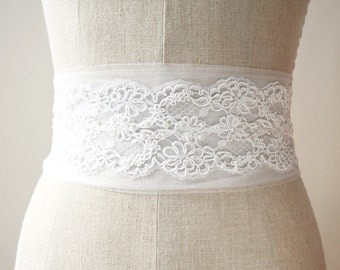 Tulle Sash, Lace Sash, Bridal Sash, Wedding Sash