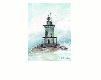 The Light House  Print  By Joyce Lee   11 X 14  Giclee