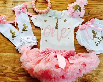 Unicorn First Birthday First Birthday Outfit Girl | One year old first birthday outfit  1st Birthday Tutu Outfit Unicorn