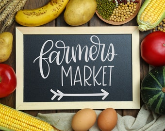 Farmers Market - Hand Lettered SVG