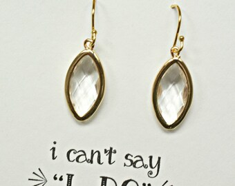 5 Earrings Crystal Wedding Earrings, Gold Drop Earrings, Crystal Bridal Earring, Clear Crystal Earring, Silver Drop Earring, ES5