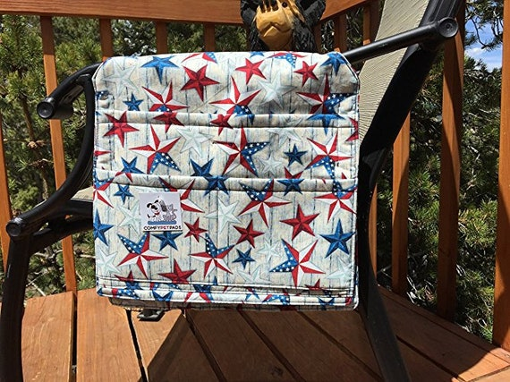 Patriotic Walker Bag, Chair Caddy, Red White & Blue, 4th of July Gifts, Size 13x13x27