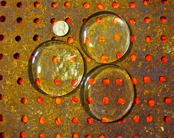 large clear glass discs