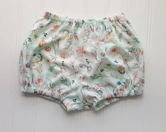 Boho Floral Bloomers, Bloomers, Diaper Cover, Bloomies, Baby Bloomers