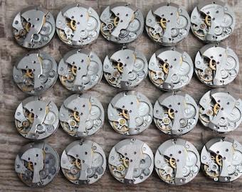 "20pcs. watch movements jewelry supplies Steampunk finds supplies (0.8 "" / 20 mm) / Watch movements for art / watch parts watch Findings"