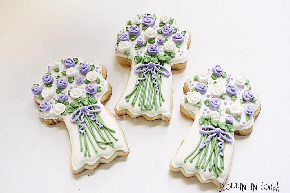 Wedding Cookies Flower Bouquet Cookies Wedding Favors