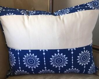 Navy Blue Pillow Cover 16 x 20 inch pillow cover Navy Cream Pillow Cover Zipper Pillow Cover Sunburst Pillow Cover Farmhouse decor