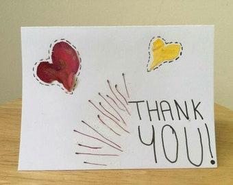 Petal Heart Thank You Cards