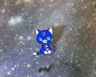 captain-cat enamel pin