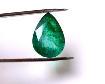 Emerald 5.80 Cts Emerald  Pear  Shape Gemstone 14.45X10.05 MM Size Natural Emerald Loose  Pear shape Gemstone 011