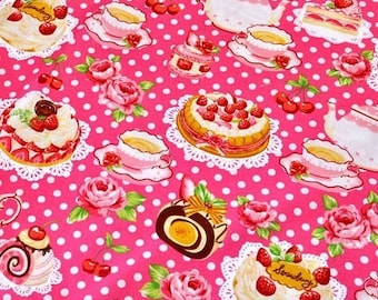 Sweets time print half meter 19.6 by 42 inches nc35