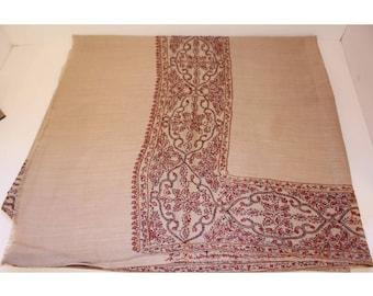 Kashmiri Hand Wiven And Embroidered Shawl Pashmina Scarf Fashion Accessory
