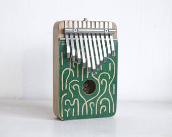 GARDEN - electric kalimba G major pentatonic - thumb piano - natural toys - wooden toys -  music gift - music instrument