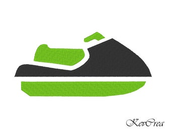 INSTANT DOWNLOAD Jet Ski Machine Embroidery Design -  Instant Download - 2 sizes