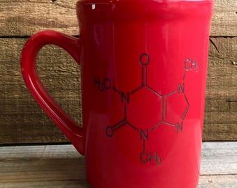 16 oz. Caffeine Molecule ceramic mug