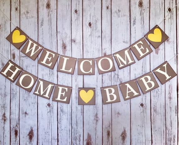 welcome home baby welcome home baby banner baby homecoming. Black Bedroom Furniture Sets. Home Design Ideas