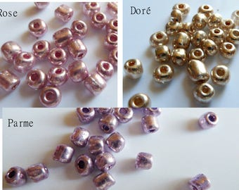 Beads seed beads metallic colors to choose 2x3mm