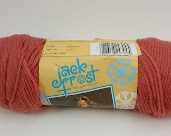 "Vintage Jack Frost Wintuk  Knitting Worsted Yarn, ""Copper"", 4 Ply, 100% Dupont Wintuk, Orlon Acrylic, Non Allergic"