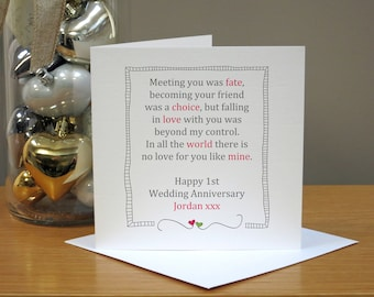 Greeting card happy wedding marriage anniversary st