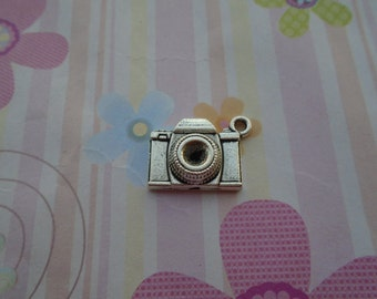 10pcs antique silver camera findings 22x15mm