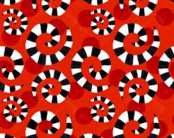 Rock-n-Roll Swirls - Red (7JHQ-1) by In The Beginning Fabrics Cotton Fabric Yardage