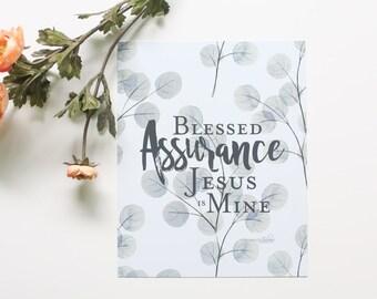 Blessed Assurance 8x10 Print // Hymn Print Series from Manda Julaine Designs