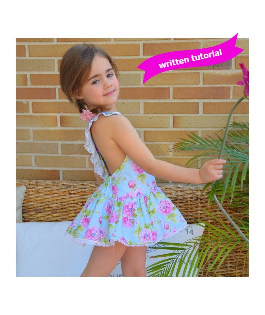 SEWING PATTERN PDF Digital Play Suit with Skirt playsuit