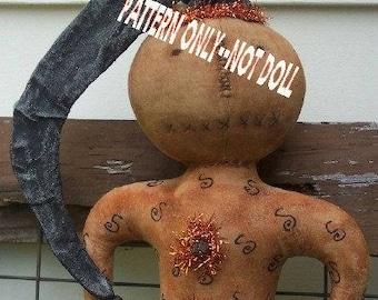Primitive epattern-NOT DoLL Halloween PUMPkin Party doll Crows Roost Prims 133e epattern immediate download