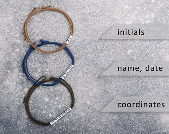 Womens friendship bracelet! Personalized friendship bracelet! Silver Nautical, surfer bracelet