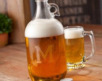 Groomsmen Gift - Bridal Party Gift - Growler Gift - Personalized Growler - Glass Beer Growler - Barware - Growler Gift - Christmas Gift