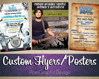 Custom Poster or Flyer Design