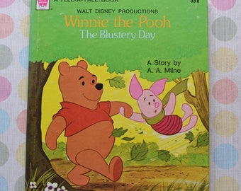 Vintage 1975 Winnie the Pooh The Blustery Day Whitman Tell-A-Tale Book